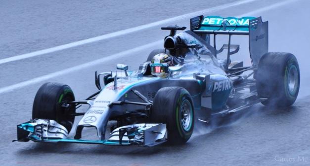 F1 2014: Lewis Hamilton rain conditions