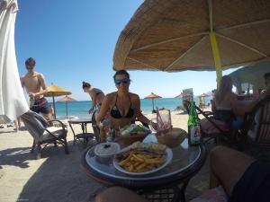 Comida en la playa de Sunny Beach